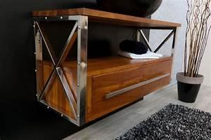 meuble salle de bain teck lutece meubles en teckcom With meuble de sdb en teck