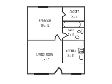 1 Bedroom 1 Bath House Plans by Small One Bedroom House Floor Plans One Bedroom House