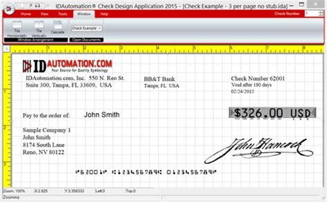 Check Printing Design Software Full Windows 7 Screenshot