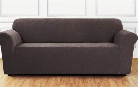 stretch settee covers surefit stretch chenille form fitting sofa cover