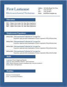 resume template word free free cv templates 29 to 35 freecvtemplate org