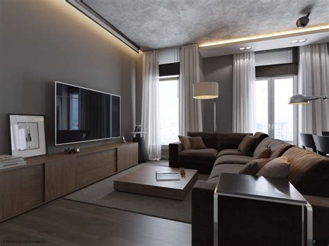 canapé designe 1 monochrome grey living room interior design ideas