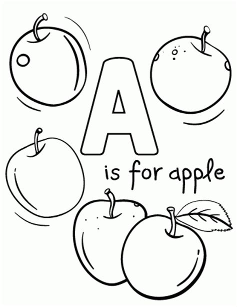 20 free printable apple coloring pages everfreecoloring