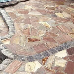 Polygonalplatten Auf Beton Verlegen : polygonalplatten naturstein bruchplatten quarzit ~ Lizthompson.info Haus und Dekorationen