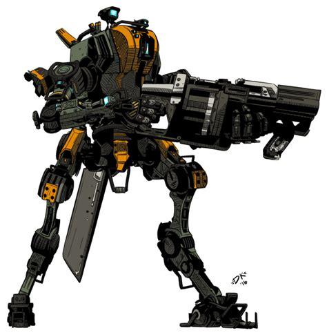 titanfall ronin militia by teamwreckloose mecha refs
