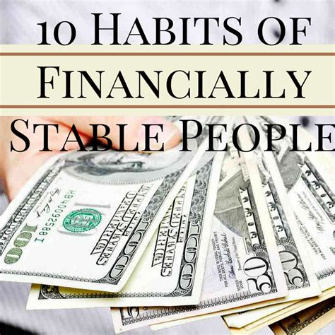 10 Habits Of Financially Stable People  One Cent At A Time