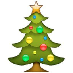christmas lights emoji tree emoji u 1f384 u e033