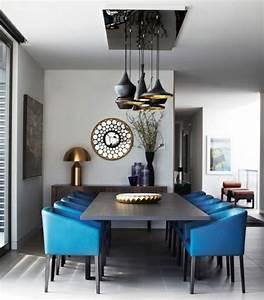 Küche Deko Wand : wohnideen esszimmer retro einrichtung blaue st hle wand deko holz esstisch zuhause dekor ideen ~ Whattoseeinmadrid.com Haus und Dekorationen