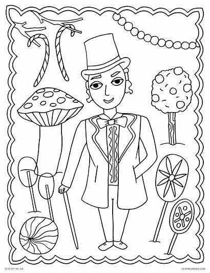 Coloring Pages Willy Wonka Chocolate Factory Charlie