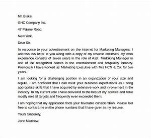 cover letter for marketing executive fresher - 10 marketing cover letter template examples to download