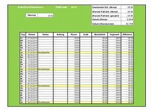 überstunden Berechnen Excel : arbeitszeitnachweis vorlagen 2015 office ~ Themetempest.com Abrechnung