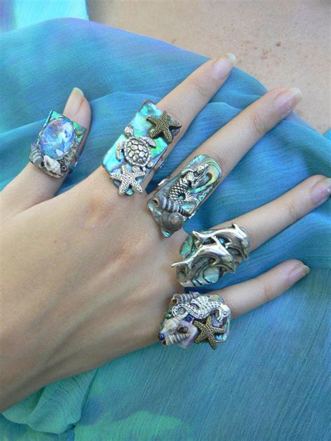 pick  sea life abalone ring sea turtle  gilded  gypsy