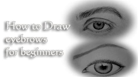 draw eyebrows  beginners quick tutorial youtube