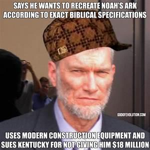 A meme about Ken Ham in a hat | God of Evolution