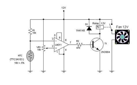 Automatic Fan Controller Circuit Expert Circuits