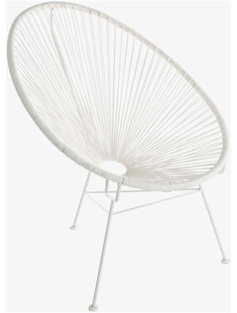 kodi whites metal white decorative rope chair modern