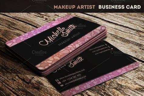 makeup artist business card templates illustrator