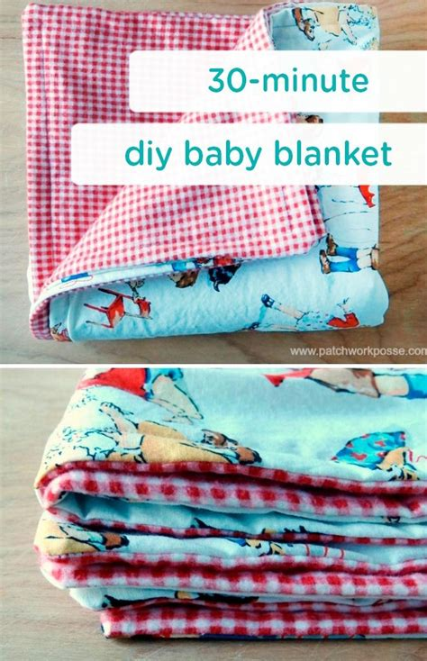 minute baby blanket tutorial homemade baby gifts