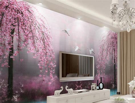 customize wallpaper  walls   stereoscopic pink swan