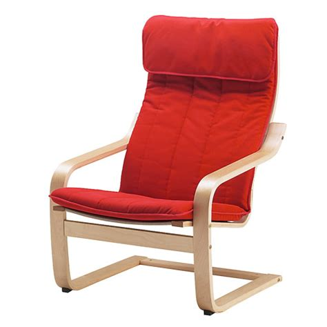 po 196 ng chair cushion alme medium red ikea