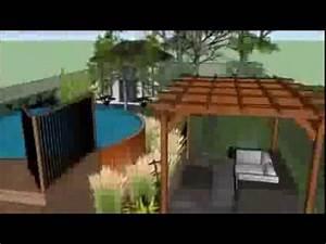 amenagement paysager d39une cour avec une piscine hors With amenagement autour d une piscine hors sol