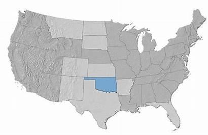 Oklahoma Mineral Mexico Map Arkansas Montana Kansas