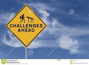 Challenges Ahead stock image. Image of obstacle, road ...