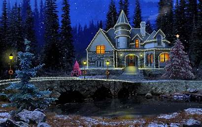 Winter Night Wallpapers Festive Background Snow Wiki