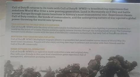 call of duty ww2 leak fleshes out story reveals