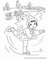 Coloring Pages Winter Ice Skating Stream Activities Fun Honkingdonkey Cool Projects sketch template