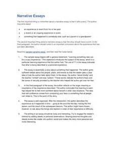 Interview Narrative Essay Example