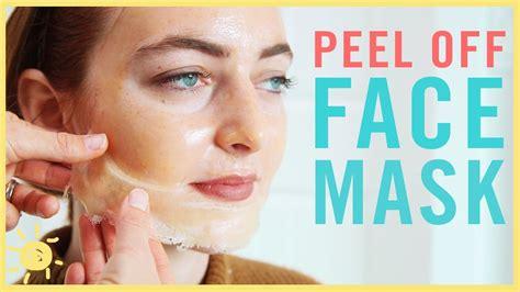 diy  peel  face mask youtube