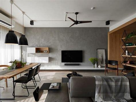 Wohnzimmerwand In Betonoptik Wohnen