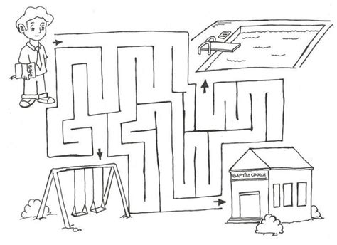 church coloring pages    print