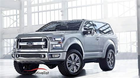 ford bronco facelift thecarsspycom