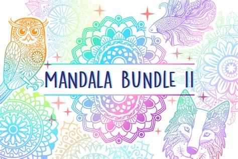 This free mandala svg file is one of our favorites! Mandala SVG Cut File Bundle II - 25 files