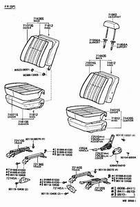 Toyota Land Cruiser Moulding  Rear Seat Cushion  Front
