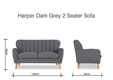 Two Seater Dimensions by Modern Grey Fabric Two Seater Sofa Ez
