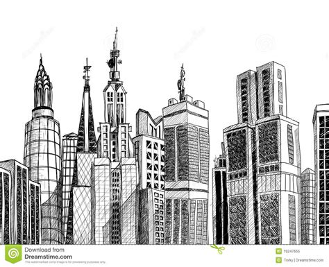urban generic architecture sketch royalty  stock photo