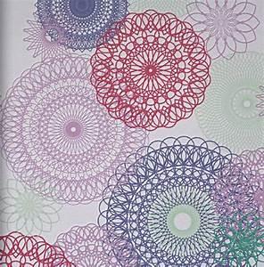 Tapeten Für Teenager : lef 2014 vlies tapete mandalas 48911 girly bunt ~ Orissabook.com Haus und Dekorationen