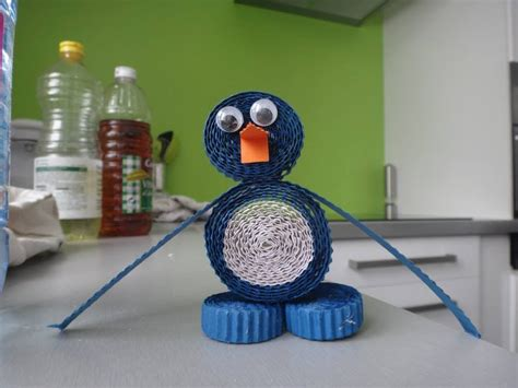 activit 233 enfant tuto pingouin papier diy
