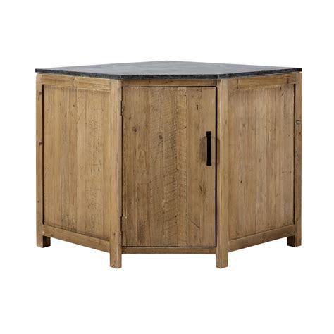 meuble bas cuisine meuble bas d 39 angle de cuisine ouverture gauche en bois recyclé l 97 cm pagnol maisons du monde