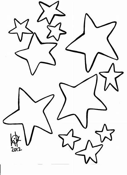 Coloring Printable Stars Pages Moon Heart Printablee