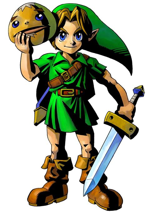 The Legend Of Zelda Majoras Mask 3d Young Link And Goron