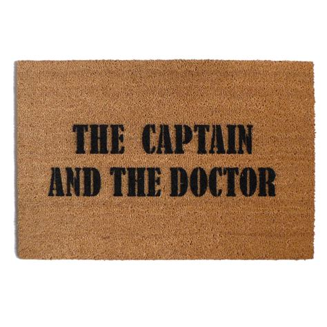 dr who doormat dr who the captain and the doctor nerdy doormat