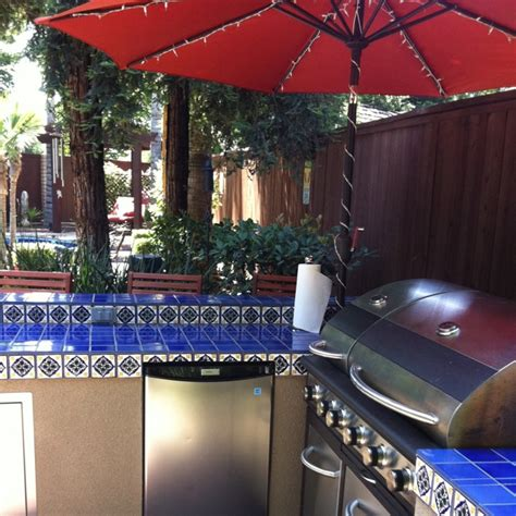 outdoor bar spanish tile stucco spanish tile