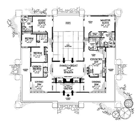 southwest style house plans house plan 99289 at familyhomeplans com