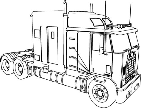 49 Coloring Page Truck, Gallery Of Kenworth W900 Custom M