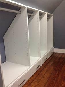 les 25 meilleures idees de la categorie armoire sous pente With meuble pour piece mansardee 0 les 25 meilleures idees de la categorie rangement sous