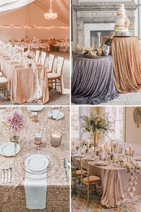 Gold Sequin Tablecloth 60cm (24'') Elegant Event Essentials